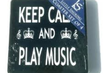 Keep Calm and Play Music Coasters