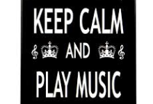 Keep Calm and Play Music Fridge Magnet