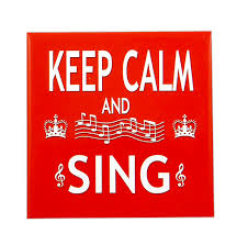 Keep Calm and SIng Fridge Magnet