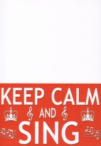 Keep Calm and Sing Slant Pad