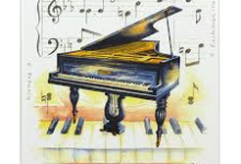 Piano Fridge Magnet