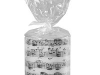 Sheet Music Round Candle