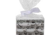 Sheet Music Square Candle