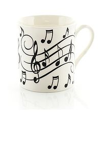 Black on White Mug