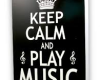 Keep Calm and Play Music Card