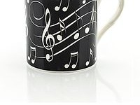 White on Black Mug